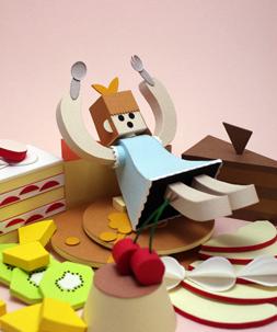 Kisara Shogo 「デザートおんなのこ」 ペーパークラフト