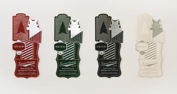 竹尾のオリジナルグリーティングカードは4色からお選びいただけます