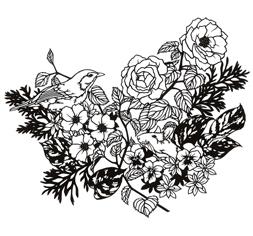 garden「小春日和 切り絵